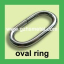 Metal Non Welded Oval Ring