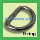 25mm Wire-Formed D Ring Gunmetal Color