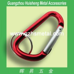 Aluminum Carabiner with Keyring