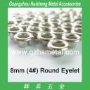8mm Metal Eyelet Leather Grommet Nickel