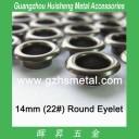 14mm Metal Round Eyelet Leather Grommet Gunmetal Color