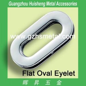 Metal Flat Oval Eyelet