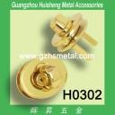H0302 Alloy Twist Lock Gold Color