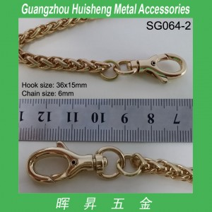 SG064-2 Small Snap Hook Snap Clasp with Chain